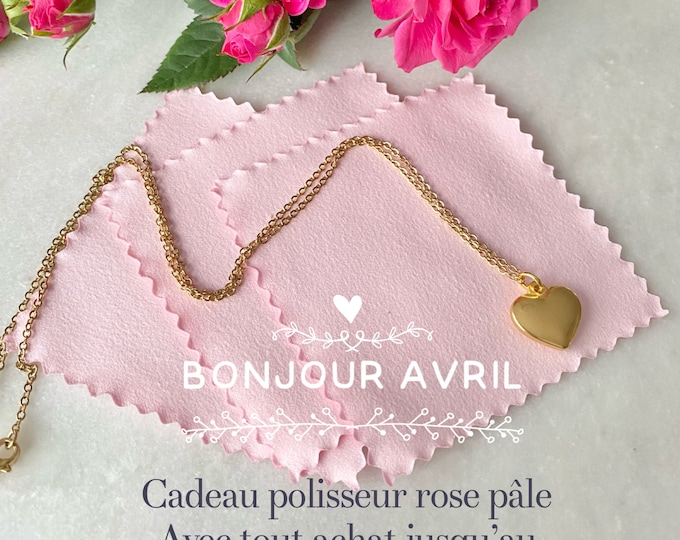 Rose gold chaîn heart
