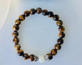 Boys bracelet tiger stone  black men bracelet stone oil diffuseur jewelry men bracelet oil diffuseur tiger stone, lapis-lazuli, agate mousse