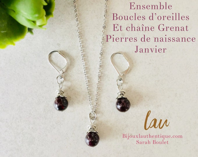 January birthstrone garnet bracelet, garnet bracelet, garnet jewelry garnet necklaces earrings garnet charm elephant