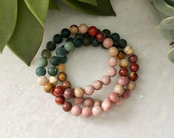 Bracelets Mookite women, jasper bracelet , jasper jewelry, Mookite jasper stone benefits, Mookite jasper necklace jasper necklace