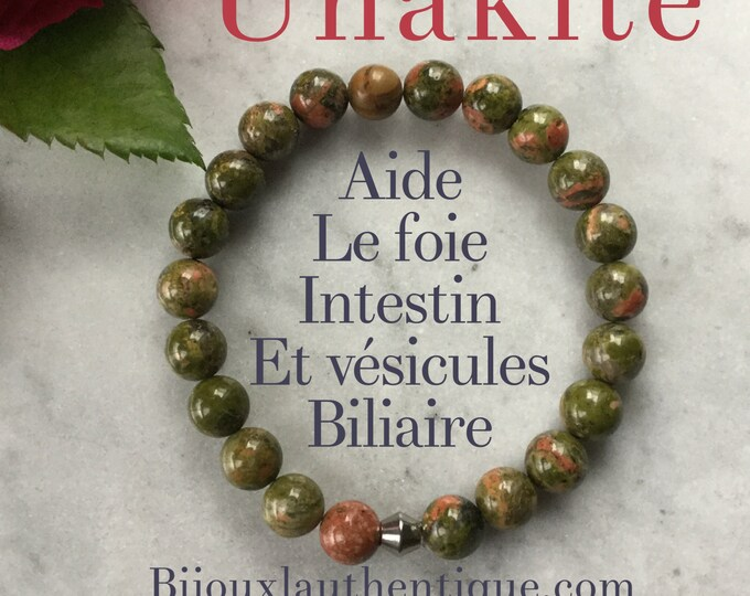 Unakite bracelet for woman, unakite woman bracelet gifts semi precious stone mala meditation bracelet benefits stone christmas gifts