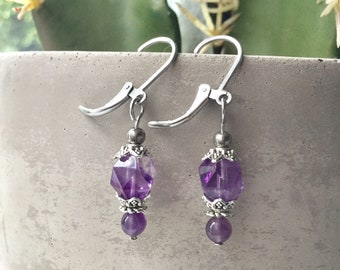 Amethyst woman earrings, howlite earrings, lotus woman earrings, pink quartz earrings, Howlite earrings, tiger eye earring,