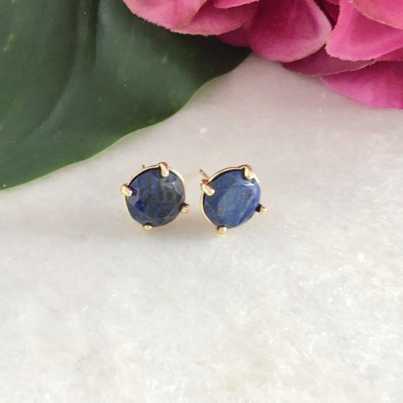 Earrings lapis-lazuli acier inoxydable