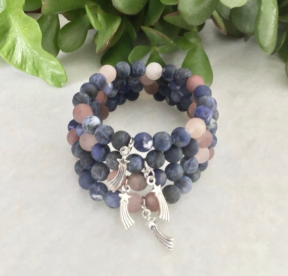 Bracelet sodalite quartz red