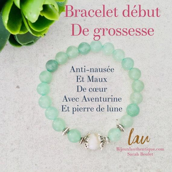 5 Aventurine and moonstone women's bracelets, anti-nausea maternity jewelry woman's heartache, pregnant woman gifts