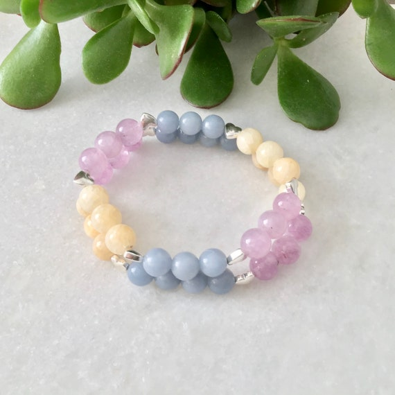 Angelite and Anhydrite bracelet, angelite or Anhydrite bracelet, angelite benefit jewelry, angelite bracelet, Anhydrite bracelet