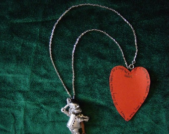 Tinman Resin Pendant on Silver finish chain
