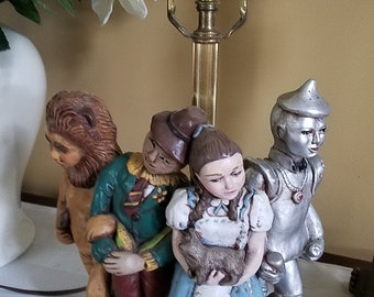 Vintage Wizard of Oz Ceramic Lamp