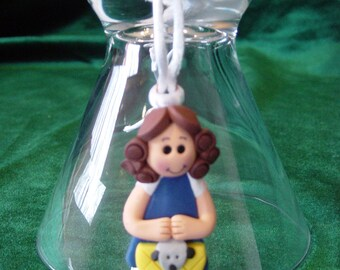 Dorothy and Toto Sculpey necklace