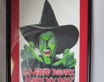 Framed print of Wicked Witch