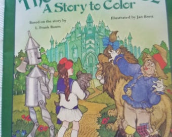 1987 Jan Brett Wizard of Oz To Color