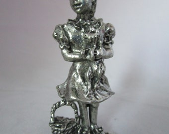 Dorothy and Toto Silver finish figurine