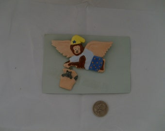 Flying Monkey Ceramic Pin with Toto