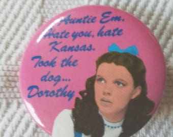 Dorothy novelty button