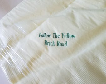 Follow the Yellow Brick Road Luncheon Napkins