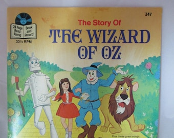 Wizard of Oz Book and 33 1/3 record