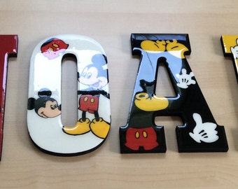 Wall letters, hand painted, personalized letters
