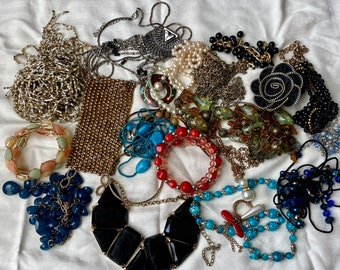 craft lot,Jewelry lbs,beads,wholesale,vintage,repurposed,salvaged,modern,gemstone,supply,wearable,mixed,huge,crafters Jewelry bag
