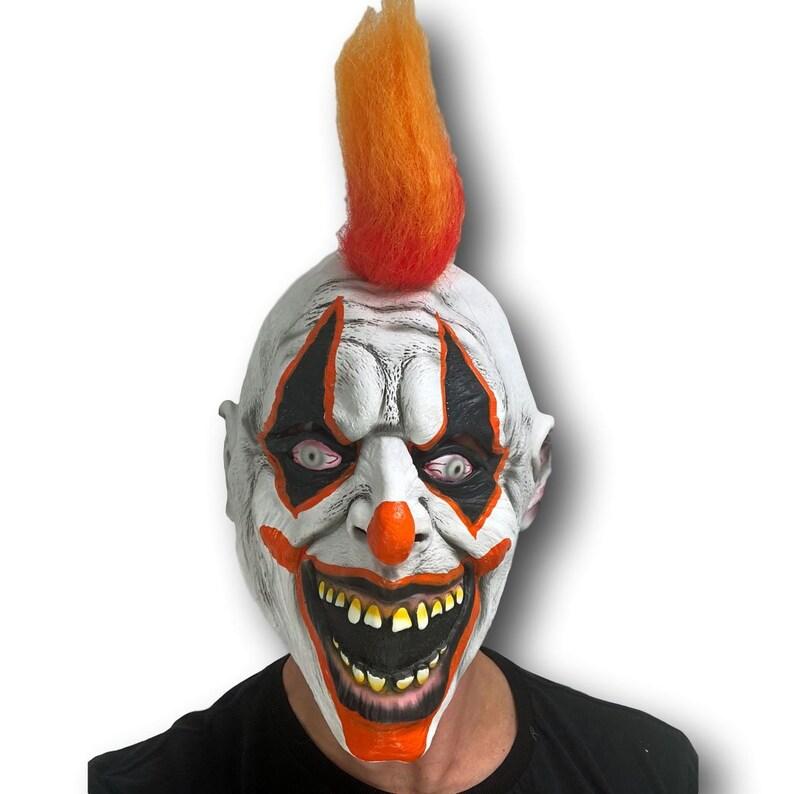 Horror Clown Mask Glow In Dark Scary Halloween Latex Fancy Dress Costume