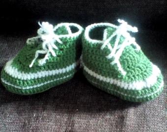Baby crochet sneakers, handmade booties, crochet shows 0-3 months old