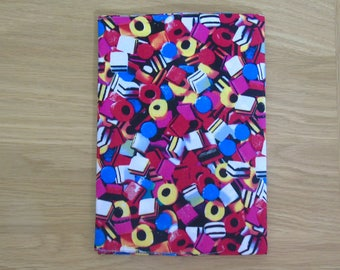 Notebook with Dolly Mixture print fabric cover
