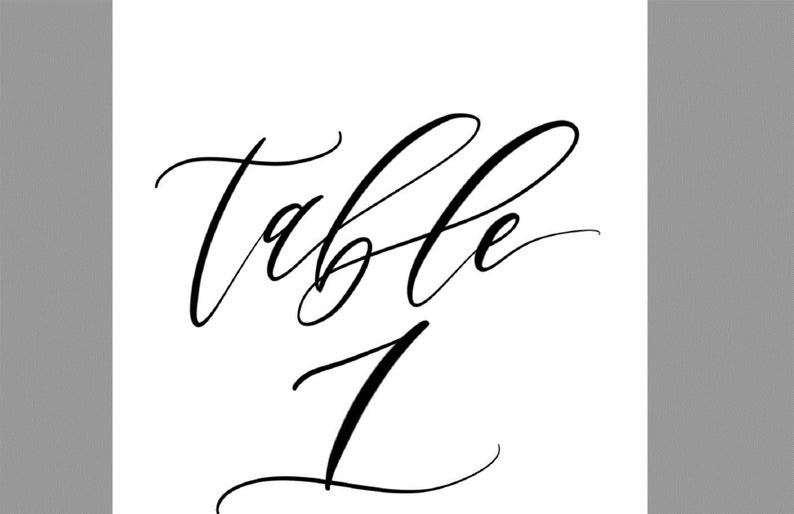 image relating to Printable Table Number identified as Desk Amount Template, Desk Quantities, Printable Desk Figures, Desk Figures 1-20, Calligraphy, 4x6, PDF Instantaneous Down load