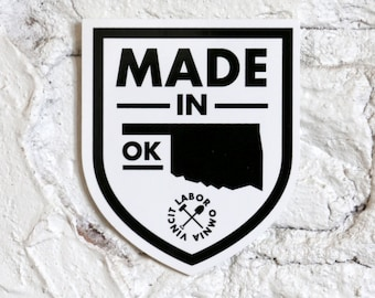 Made in OK Sticker