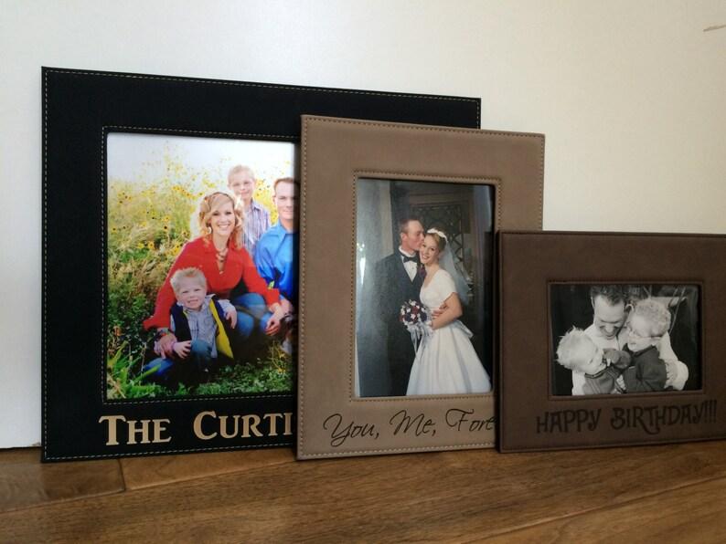 Personalized Frame Picture Frame Frames Photo Frame Custom Frame Wall Frame Leather Frame Family Portrait Birthday Christmas Gift