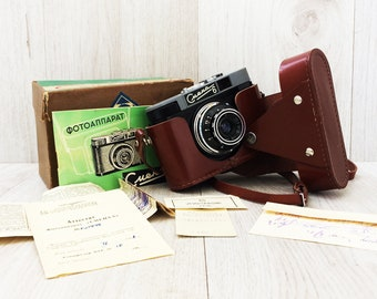 Vintage camera Working camera Smena 6 in its original pack with all documents Soviet camera 35 mm film camera Gift for him Gift for her