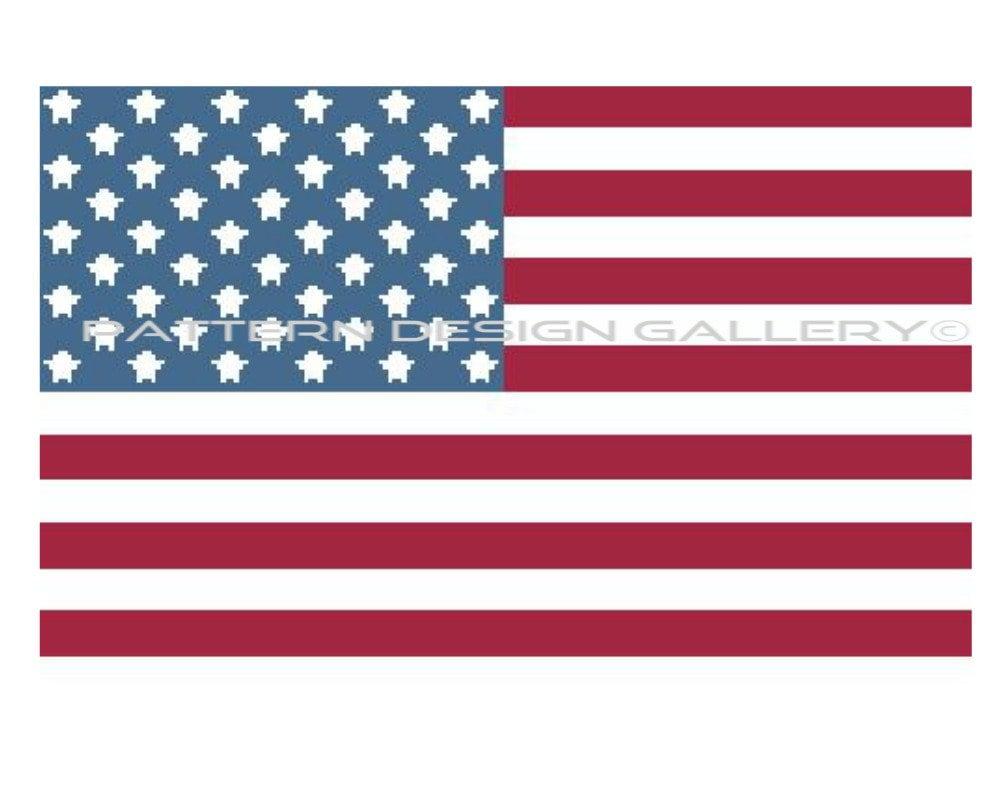 American Flag Graphgan Crochet Pattern Graph And Written Etsy