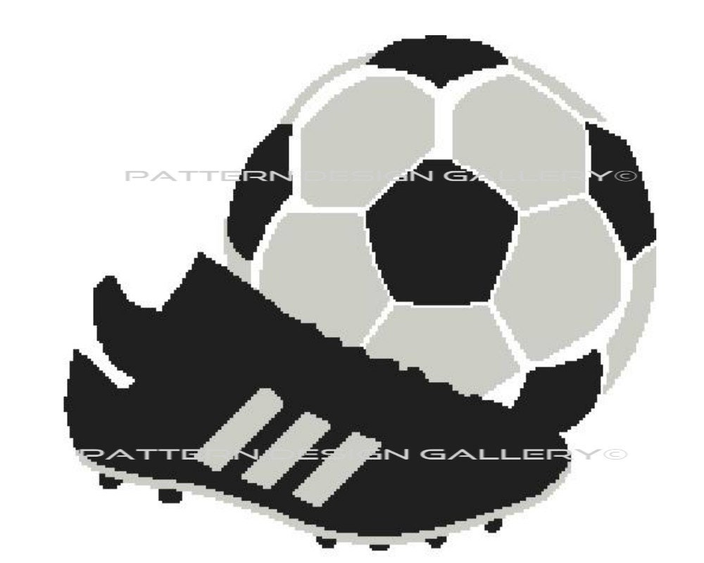 Soccer Graph Crochet Pattern Soccer Ball And Cleats Graphgan Etsy