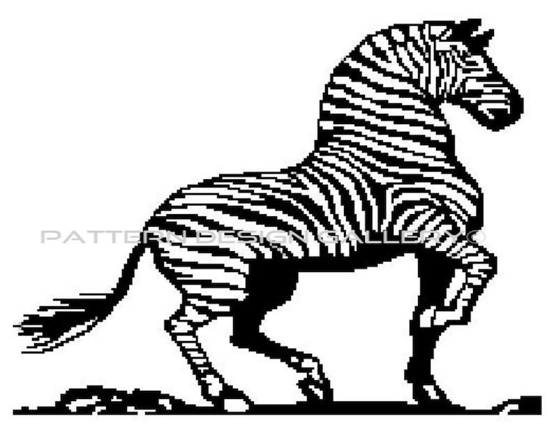 Written Crochet Pattern PDF Instant Download Zebra Graphgan Afghan Crochet Pattern Zebra Graph