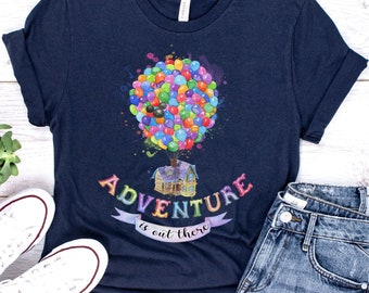 Adventure is out there Disney family shirts Disney Up shirt Adventure is out the UP shirt Disney trip shirt Up shirt disney kids shirt