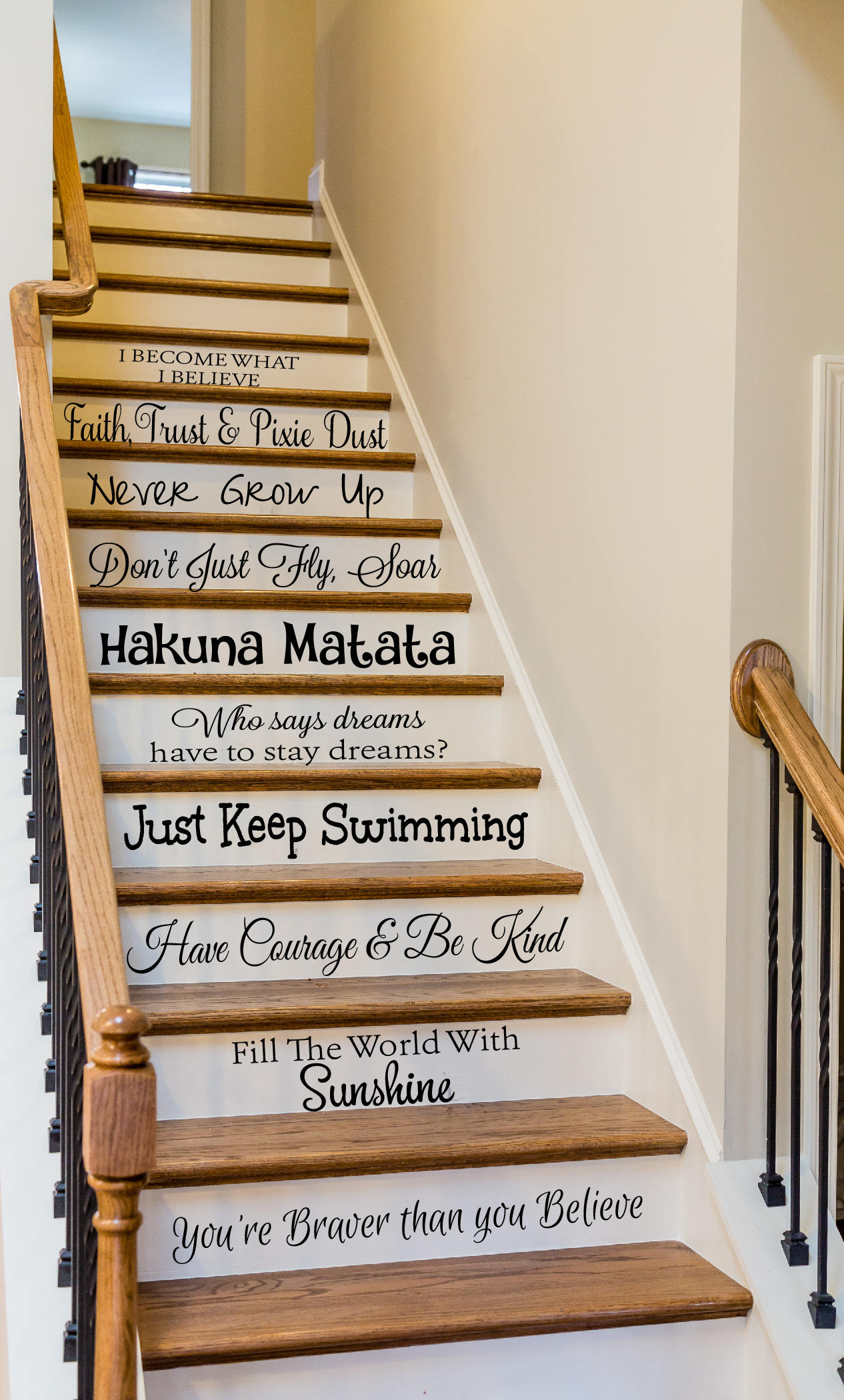 Disney Quote Stair Decals Stair Decals Living Room Decor
