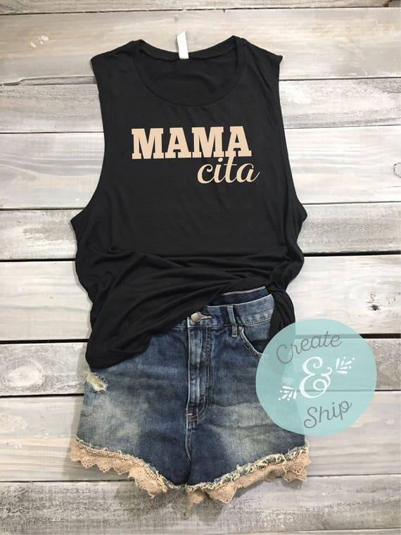MomShirt Brunch Shirt Mamacita Muscle Tank Funny Shirt Yoga S Workout Shirt