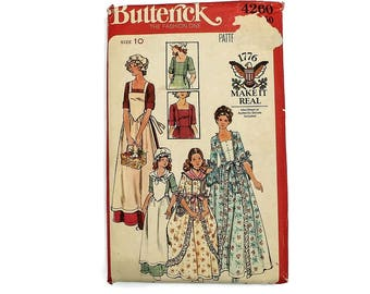 1970s Vintage Sewing Pattern - Butterick 4260 - Dolly Madison Costume UNCUT