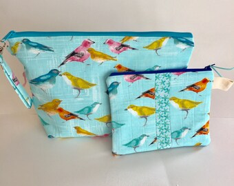Project bag with birds.