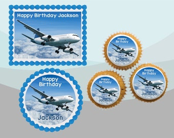 Planes Edible Cupcake Toppers Decoration Airplane, Sky, Fly, Helicopter
