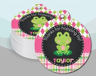 Frog Bag Tag Frog Babyshower Party Favor Frog Party Favor Kids Bag Tag Kids Luggage Tag Frog Diaper Bag Tag Frog Backpack Tag Frog Stuff
