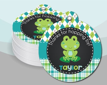 Frog Its A Boy Baby Shower Party Banner Sign Aqua Blue Green