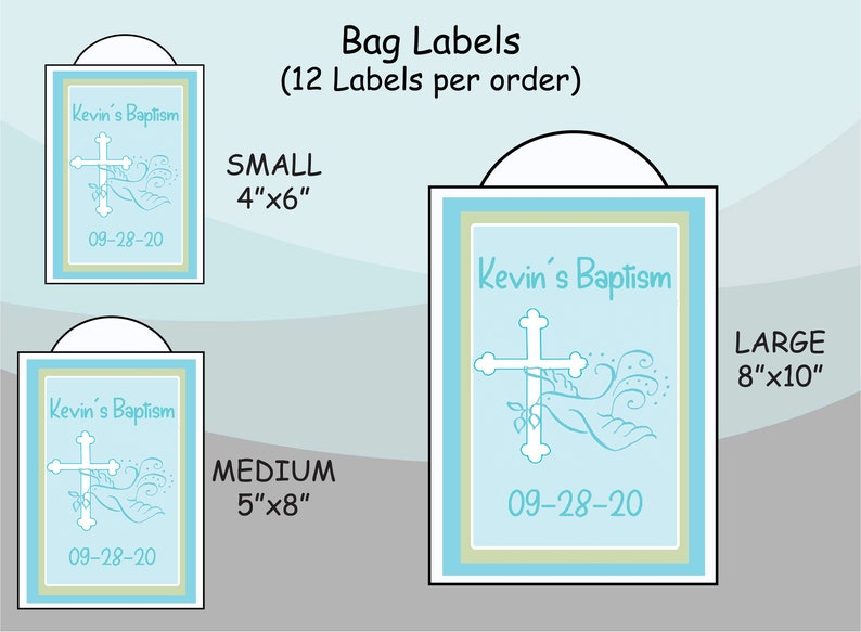 Gable Box Stickers Personalized Unique Party Favor Supplies Faithful Dove Cross  First Holy Communion Baptism |Gift Bag Labels
