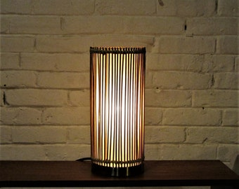 Bamboo Reeded Lamp Ambient Lighting