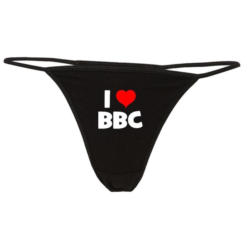 70dec7a21679 I Love BBC Thong Panties Bikini G-String Big Black Cock | Etsy