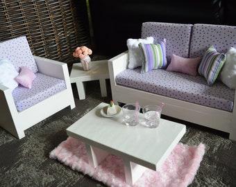 """18"""" Doll Furniture. Living Room - Violet Set"""