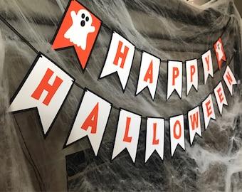 Happy Halloween Banner • Halloween Decor • Custom Banner