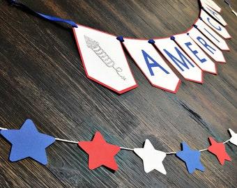 Patriotic America Banner Set