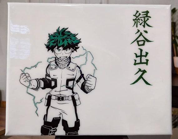 My Hero Academia Izuku Midoriya Deku Acrylic Painting