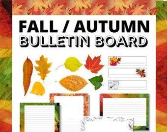 Fall Bulletin Board Display, Fall Borders, Autumn Theme Student Work Display, Fall Bulletin Board Kit Classroom Display, Borders & Elements