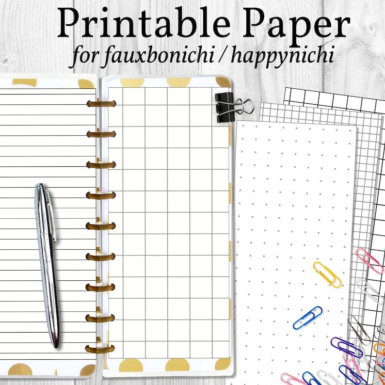 Printable Paper for Happynichi Fauxbonichi Hobonichi image 0