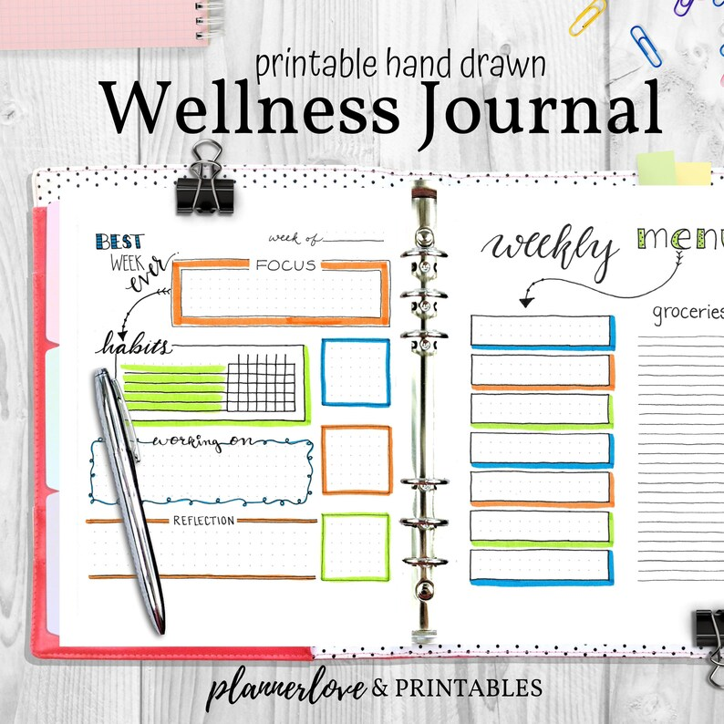 Wellness Planner for Weight Loss Diet Health & Fitness image 0